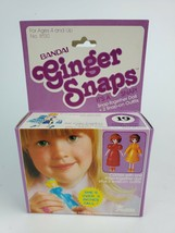 "Vintage 1981 Bandai Ginger Snaps #19 snap-together doll 3"" New in Purple Box - $23.36"