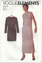 Vogue Elements 9310 Minimalist Straight Dress Pattern for Knits Size 6-2... - $14.69