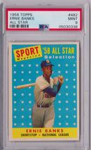 1958 Topps Ernie Banks All Star #482 PSA 9 P632 - $1,436.43