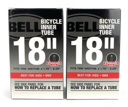 "2x Bell 18"" Bmx Bicycle Inner Tube Standard Schrader Valve x1.75-2.25"" - $11.63"