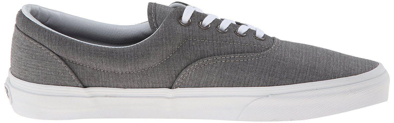 Vans Era Suiting STRIPES CHARCOAL True White Men's Classic Skate Shoes sz 7.5