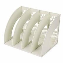 File Holder 4 Compartment Vertical File Organizer Detachable Plastic Off... - €16,52 EUR