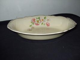 """Homer Laughlin Oval Vegetable Bowl """"Fluffy Rose 1"""" - $25.00"""