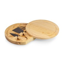 Legacy Brie Cheese Cutting Board Set Swivel Open Rubberwood Serving Tool... - $22.04