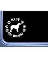 "Baby on Board Irish Wolfhound L538 6"" Sticker dog decal - $4.99"