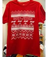 Christmas T Shirt-Budweiser-Medium - $9.90