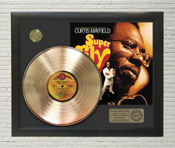 Curtis Mayfield Superfly Framed Gold LP Display C3 - $151.95