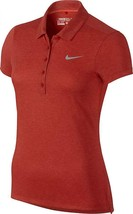 Nike Womens Xs Golf DRI-FIT Precision Polo Shirt 873192 696 $75 Red Heathered - $35.06