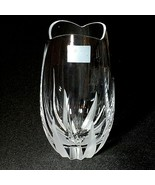 1 (One) MIKASA FLAME D'AMORE Cut Frosted Lead Crystal Flower Vase - $22.55