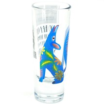 Howling Wolf Alebrije Printed Design Tequila Shot Glass Shooter Made in Mexico image 2