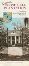 Vintage Travel Brochure Boone Hall Plantation Charleston South Carolina - $8.90
