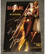 Zachary Levi, Asher Angel, Jack Dylan Grazer Hand Signed Shazam 11x17 Ph... - $199.99