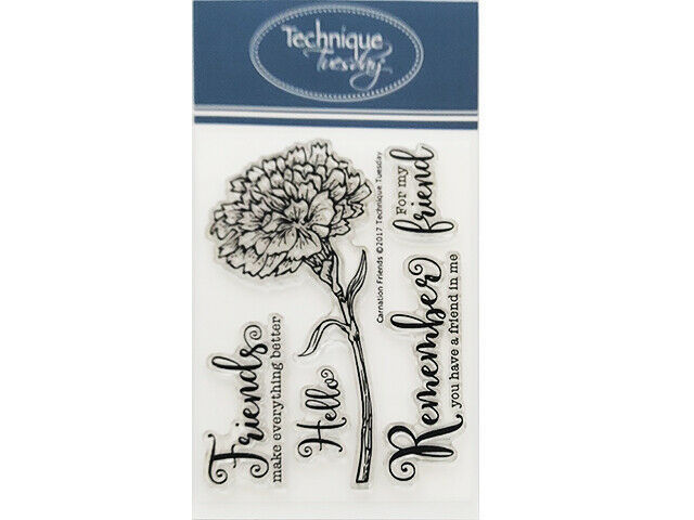 Technique Tuesday Carnation Friends Clear Cling Stamp Set #GSCFr