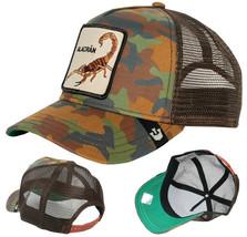 Goorin Bros Snapback Mesh Cap Brown Army Camo Alacran Trucker Hat 101-0245