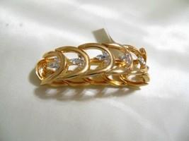 "Charter Club 7"" Gold Tone Simulated Diamond Stretch Bracelet HH513 $38 - $15.35"