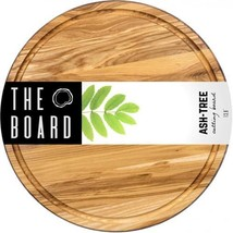 """Wood Cutting Board 13"""" Round Ash board More Reliable than Bamboo and Pla... - £22.06 GBP"""