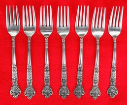 7X Salad Dessert Forks Merchandise Service Versailles Stainless Glossy F... - $45.54
