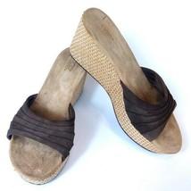 Ugg AUSTRALIA Alvina 3100 Women's Sandals Brown Leather Suede Wedge Shoe... - $29.52