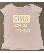 The Childrens Place Toddler Girls Graphic T-Shirt (SIZE 5T) Purple - $12.38