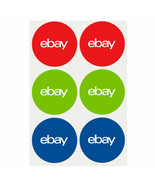 """3-Color eBay-Branded Round 100 Sticker Multi-Pack 3"""" x 3"""" Promote your b... - $11.25"""