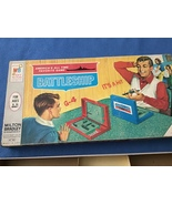 Battleship game  Milton bradley  1967 older box repaired condition - $11.12