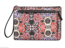 Rebecca Minkoff Womens Mexican Flower Leather Large Annie Pouch Clutch NWT - $49.50