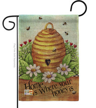 Bee Hive Home Burlap - Impressions Decorative Garden Flag G154083-DB - $22.97