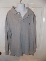 Polo by Ralph Lauren Gray Solid Polo Size 8 Boy's EUC - $16.20