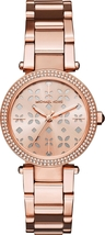 Michael Kors Mini Parker Rose Gold-tone Floral Cutout Dial Ladies Watch ... - $140.00