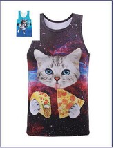 "Newest Summer Women/Men""s Cute Cat 3D Print Sleeveless Tank Top Vest T-shirt - $17.60"