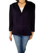 TAHARI ARTHUR LEVINE 18 purple black geometric jacquard blazer jacket ¾ slv - $23.76