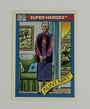 Marvel Universe 1990 Series 1 28 Aunt May Trading Card Spider-man - $1.97