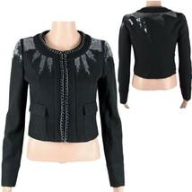 Guess Jeans los Angeles women's blazer sequined wool black size S (K-5) - $29.48