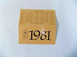 1981 mercedes 380sl slc300cd 500sec owners price card brochure w107 w123 w126 - $19.79