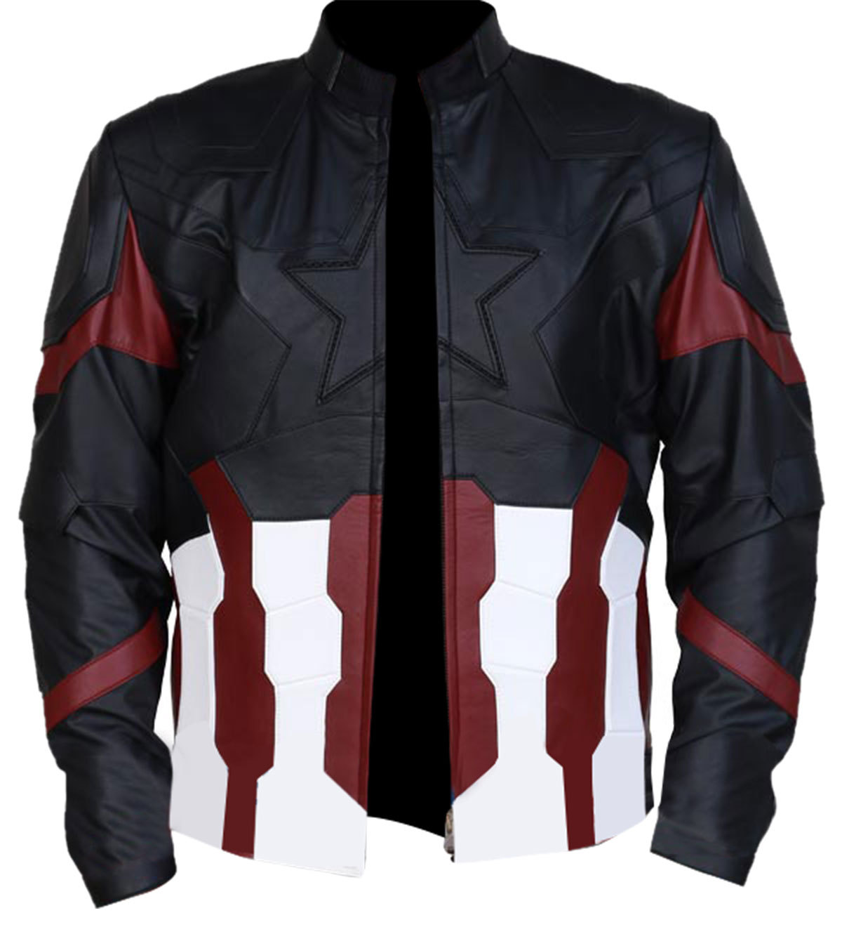 Steve rogers infinity war costume leather jacket