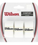 Wilson Tennis Racquet Pro Over Grip, White, Pack of 3 - $7.38