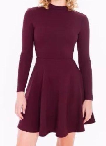Originale American Apparel Violette Vestito da Skater Porto Reale Burgundy XS
