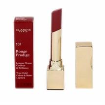 Clarins Rouge Prodige TRUE-HOLD Colour & Shine Lipstick 3G #107 NIB-441871 - $25.74