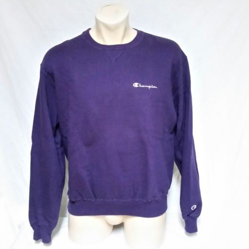 VTG Champion Sweatshirt Embroidered Spell Out Jumper USA Sport 90s Crew Neck XL