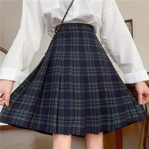 Lady Classic Wine Red Plaid Skirt Plus Size Pleated Plaid Skirt Christmas Outfit image 5