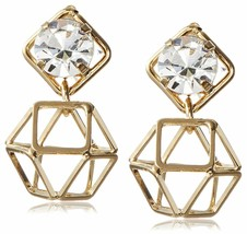 NEW Daniela Swaebe 18K Gold-Plated Origami Swarovski Crystal Earrings image 1