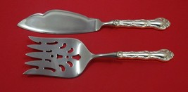 French Scroll by Alvin Sterling Silver Fish Serving Set 2 Piece Custom HHWS - $127.40