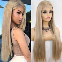 K'ryssma Blonde 13x6 Lace Front Wig for Women Natural Hairline Long Silky Straig
