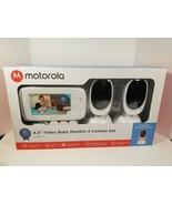 "Motorola BLISS54-2 4.3"" Video Baby Monitor - White New - $69.25"