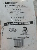 Nibco Press System PC606 2 45 FTG Elbow Quantity Five Per Package image 2
