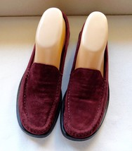 Talbots Placido Maroon Suede Slip-On Loafers Shoes Size: 7 1/2 M