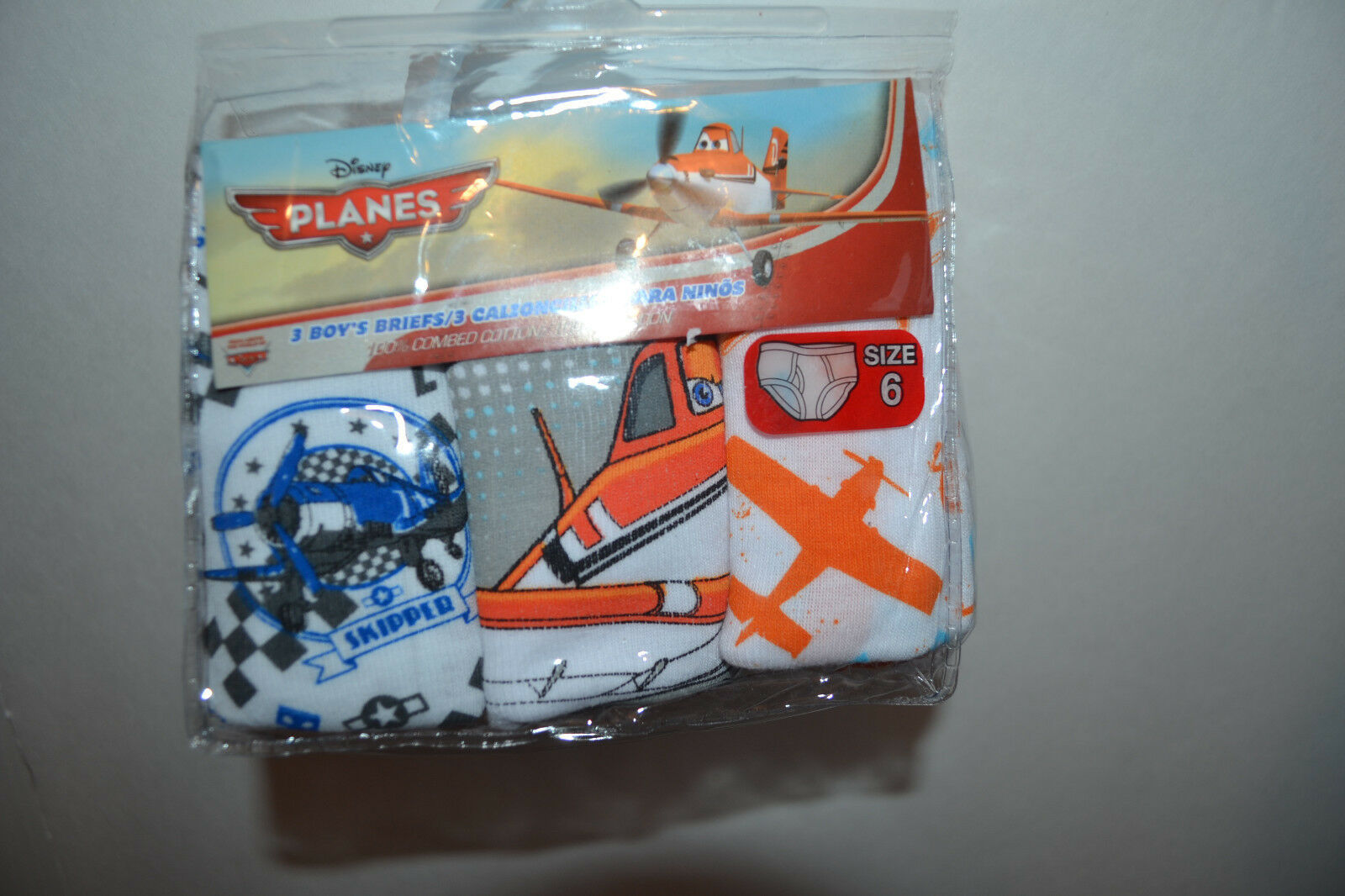 Primary image for Disney  Planes Boys Briefs 3 Pack Sizes 4  NIP