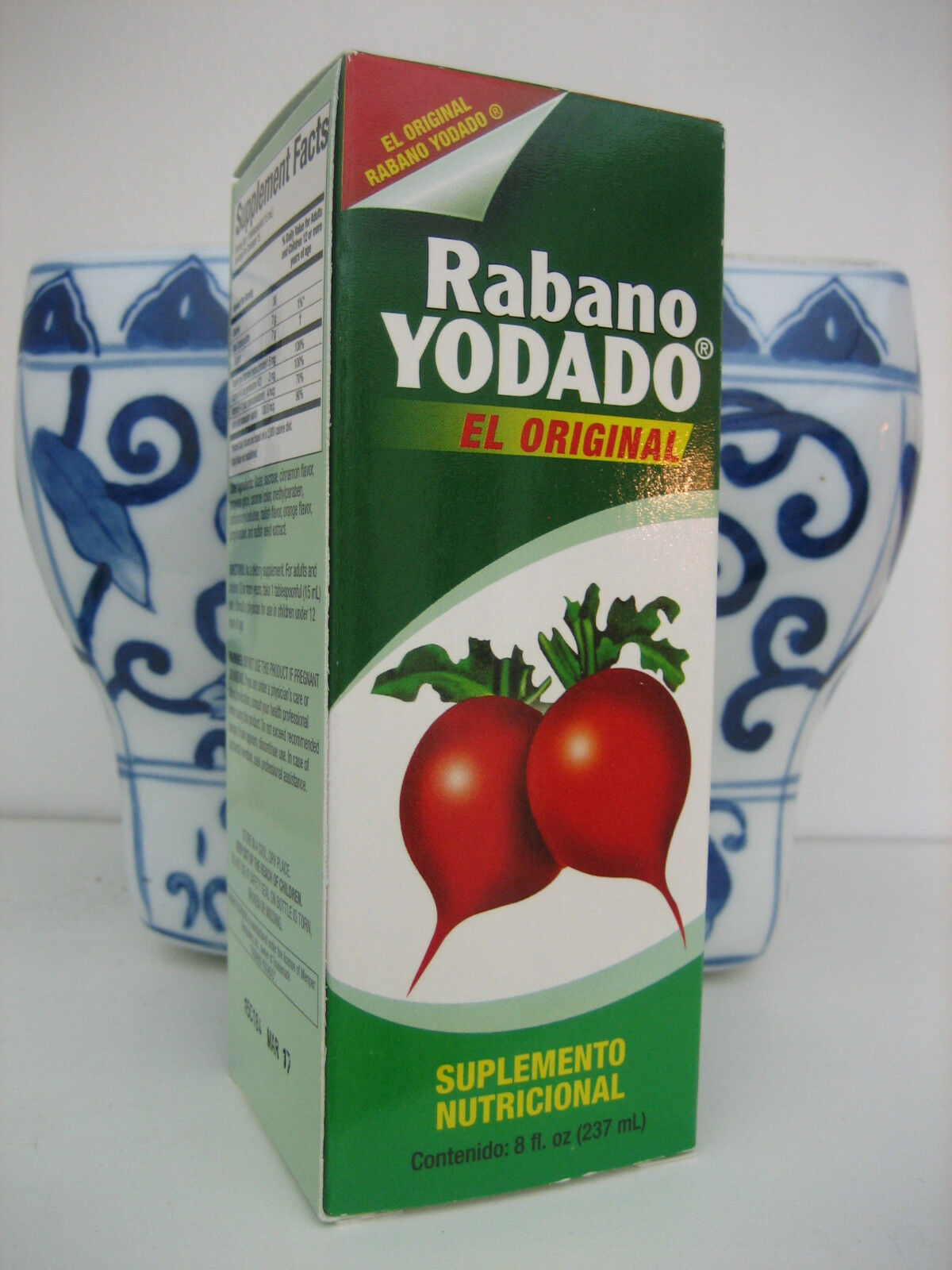 2 El Original Rabano Yodado Iodized Radish Syrup Nutritional Supplement, 8 oz