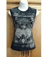 NEW Harley-Davidson Womens Sz M 102 Yrs Anniversary Montana 1903-2005 Ta... - $25.98
