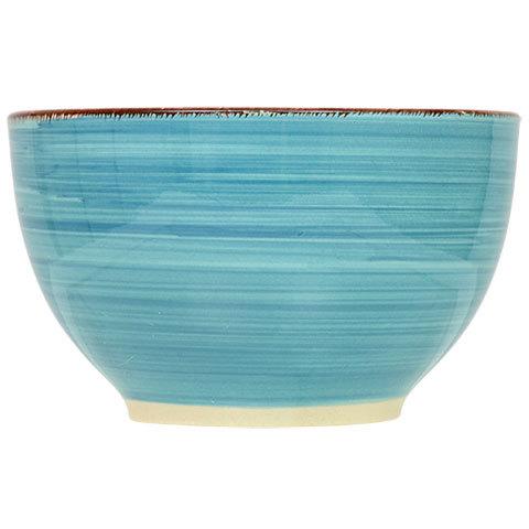ROYAL NORFOLK DINNERWARE 3-pc Set Turquoise Swirl Stoneware Plate Bowl Mug NEW